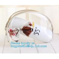 Best Travel Environmental Shopping Bags / Storage PVC Cosmetic Bag With Zipper wholesale