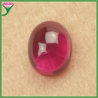 Buy cheap hot sale in russian price synthetic 5# rose red star ruby cabochon from wholesalers