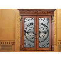 Best Glass Lowes Wrought Iron Entry Doors And Glass Agon Filled 22*64 inch Size Durable wholesale