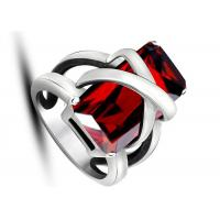Best Latest Design Jewelry Punk Rock Red Stone Rings Non - Allergic For Women / Party wholesale