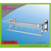 China 304 Stainless Steel Hotel Style Towel Rack With Hooks on sale