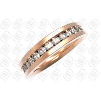 China Rose Gold CZ Stainless Steel Rings Jewelry , Gold  Diamond Wedding Ring for Her on sale