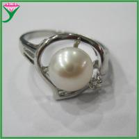Best Wholesale Charm white one natural freshwater new design pearl finger rings wholesale