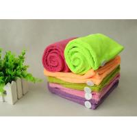 China Super Absorbent Microfiber Towel Hair Turban Lime Green Red Hair Drying Hat on sale