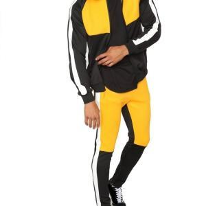 Best Fashionable Color Contract Mens Tracksuit Set , Color Combination Gym Tracksuit wholesale