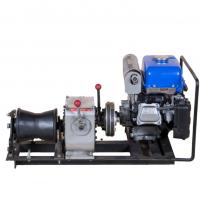 China Gas Powered Winch Portable Cable Pulling Machine Capacity 1 Ton Cbale Winch on sale