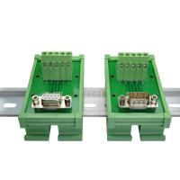 China DB9 D Sub 9 Pin Single End Male Female Connectors Terminal Block  Breakout Board on sale