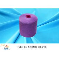 Best Purple Durable Semi Dull Yarn , Twisted Dyed Polyester Non Knot For Clothes wholesale