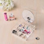 Best Clear Acrylic Jewelry Display Jewelry Display Set Storage With Mirror OEM Service wholesale