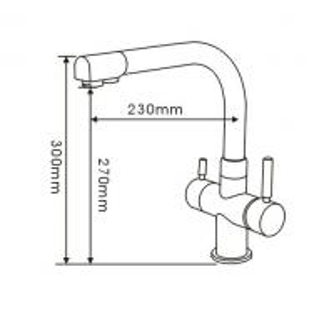 Best 3 Way Tri-flow Kitchen Mixer Taps wholesale