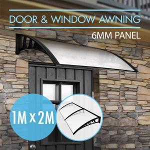 China Clear Sun Shade 60x100cm Door Window Awning Canopy on sale