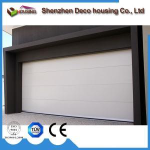 Best Residential elegant galvanized motorized steel PU foam insulated flat panel garage doors wholesale