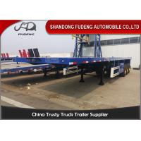 China 3 Axles 40 Ft 45 Ft Transport 60 Tons Flatbed Container Trailer  For  Sale on sale