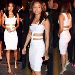 Best 2014 Celebrity White Sexy Women Summer Dress Fashion Sleeveless Club Party Dresses Bodycon Bandage Dress Vestidos wholesale