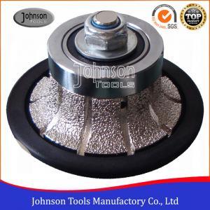 China No.2 Half Bullnose Vacuum Brazed Diamond Tools For Edging Stone  on sale