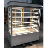 China 1.5m Bakery Glass Showcase , Vertical Sweet Shop Stainless Steel / Marble Base on sale
