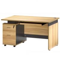 Buy cheap Melamine Faced Chipboard Office Computer Desk With Lock Drawers Fruit Wood Color from wholesalers
