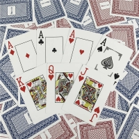 Buy cheap PVC Playing Custom Normal Size Poker Size Cards game printing from wholesalers