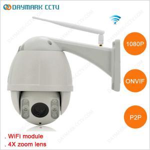 Best 1080p 2 Megapixel P2P WIFI PTZ Outdoor Dome IP Camera wholesale