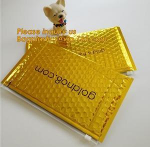 Best Slider padded grip seal Golden bags, air bubble bag with slider zipper,design custom anti static plastic black ziplock b wholesale