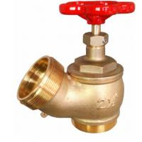 Best Red Hand Wheel Single Headed Hydrant Valve , Brass Fire Fighting Landing Valve wholesale