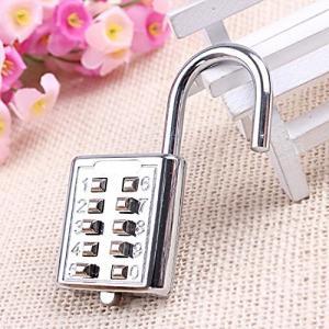 China Mini Push Button Code Resettable Combination Padlock 10 Pin Sports Locker on sale