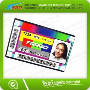 Best plastic portrait id card wholesale