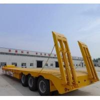 China 50T Loading Capacity Second Hand Semi Trailers With Carbon Steel Flat Bed on sale