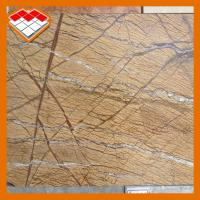 China Antique Rainforest Brown Marble Slab Kitchen Countertops 36''X36'' Easy Maintenance on sale