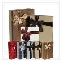 Best elegant box paper packing gift box jewelry box customize design exquisite box with ribbon wholesale