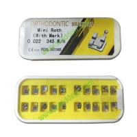 China Orthodontic Metal Bracket Mini Roth (with mark) 0.022 345W/H on sale