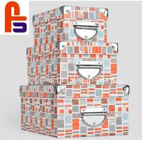 China Custom Design  128gsm Art Paper With Metal Handle 	Cardboard Packing Boxes on sale