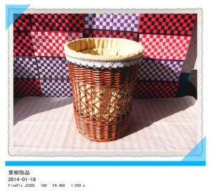 China cheap large white round lidded houseware wicker laundry baskets on sale