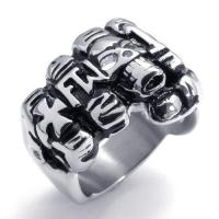 Best Tagor Jewelry Super Fashion 316L Stainless Steel Casting Rings Collection PXR031 wholesale