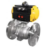 China Adjustable Pneumatic Ball Valve / Segmented Ball Valve Stainless Steel Material on sale
