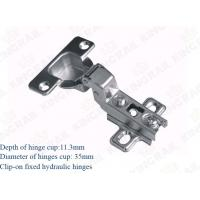 China Furniture Fitting hydraulic Stainless Steel Concealed Cabinet Hinges on sale