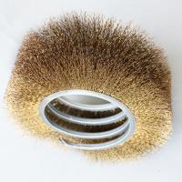 Best Open Wound Brush outside coil Rotary brush with Brass wire wholesale