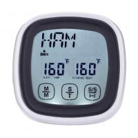 China Mini LCD Kitchen Timer Touchscreen Digital Meat Cooking Thermometer and Timer with probe on sale