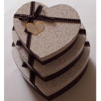 Best Heart Shape Recycled Gift Paper Box Packaging , Brown Cream Paper Box Customized Size wholesale