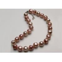 Best 16 Inch Baroque Faux Pearl Choker Necklace With Chian Extender Pink Color wholesale