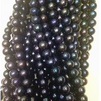 China 7.5-8mm black natural fresh water bright pearls wholesale on sale