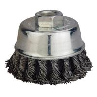 China Stable Knotted Wire Cup Brush , Stainless Steel Wire Brush For Grinder on sale
