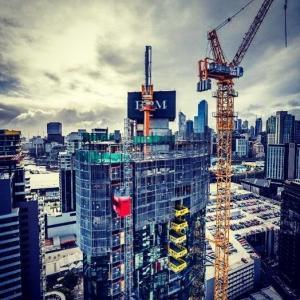 Best 6m / Min Safe Retractable Cantilevered Crane Loading PlatformsFor Skyscraper wholesale