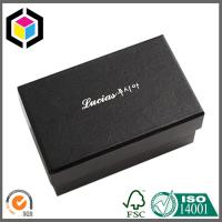 Cheap Fancy Black Color White Logo Gift Paper Chipboard Box; Jewelry Ring Paper Box for sale