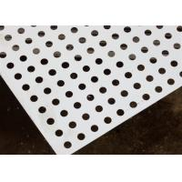 China Round Decorative Metal Sheets , Decorative Perforated Aluminum Sheet High Precision Pattern on sale