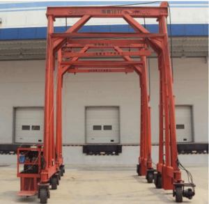 Best Red Steel Standard Mobile Container Crane , Port Gantry Crane Container Handling Crane wholesale