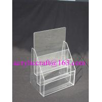 Best Practical Multi-layered Custom Transparent Acrylic Paper / Poster Display Stand wholesale