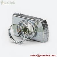 Best Zinc Yellow M12 Strut Channel Nut with short spring For Strut Accessories wholesale