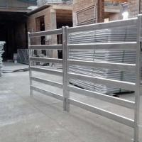China Hot Dip Galvanised 1.8x2.1m Horse Gate Panels 6 Oval Rails In Horse Cattle Yard on sale