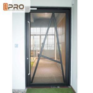Best Tempered Glass Pivot Front Door , Aluminium Contemporary Entrance Doors wholesale